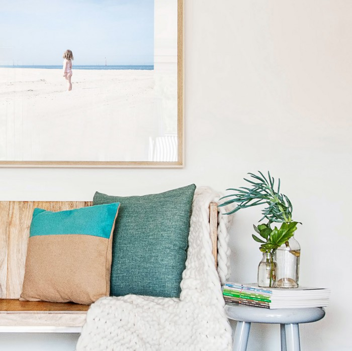 Styled Couch and Art Print